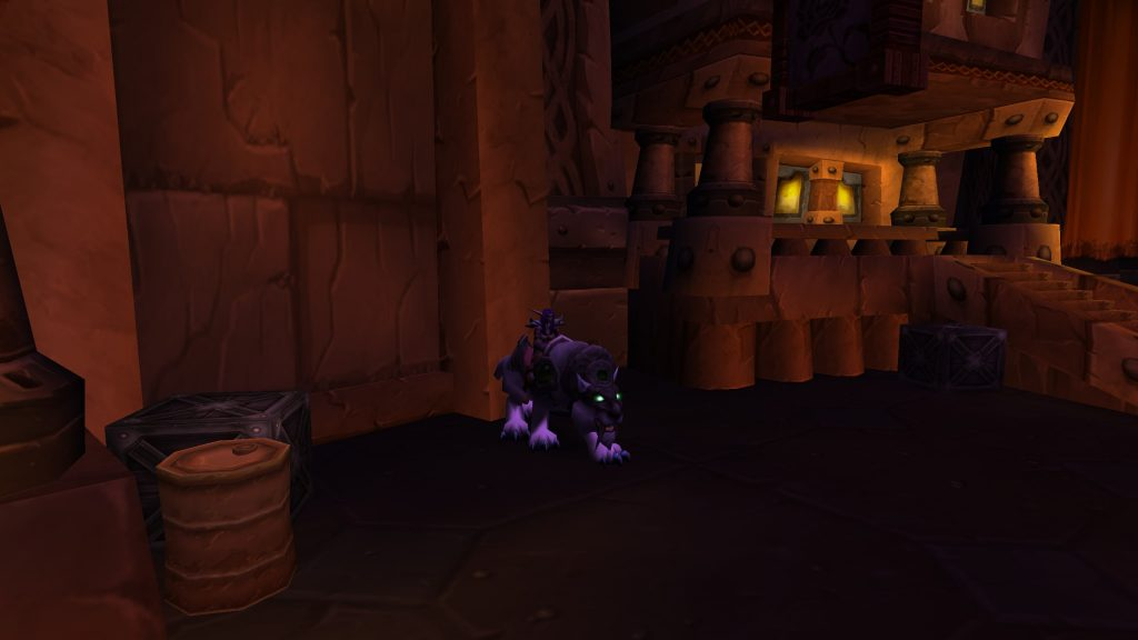 Screenshot of Night Elf on Swift Frostsaber